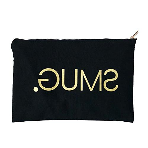 SMUG Active Black & Gold Beauty Accessory Bag