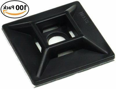 Zip Tie Adhesive-Backed Mounts 100 Pack by Nova Supply. Prof