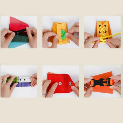 Basic Learn to Tie Button Puzzle Toy
