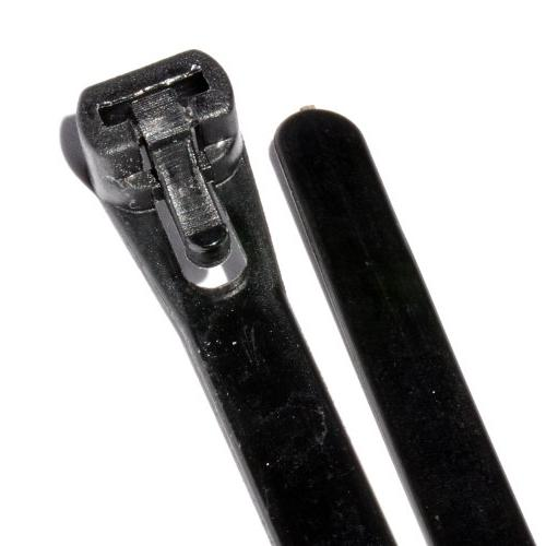 black reusable cable ties