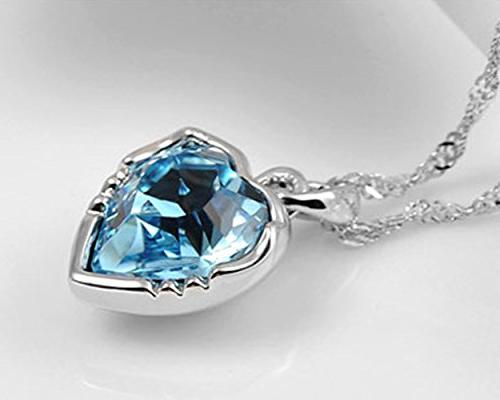 """The Starry Night Heart Crystal Constellations Gemini Necklace 25.59"""""""