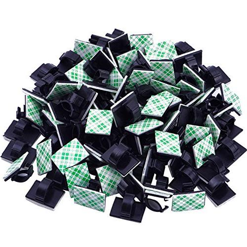 Self-Adhesive Wire Clips Car KEDSUM Upgraded 100pcs Adjustable Cable Clips