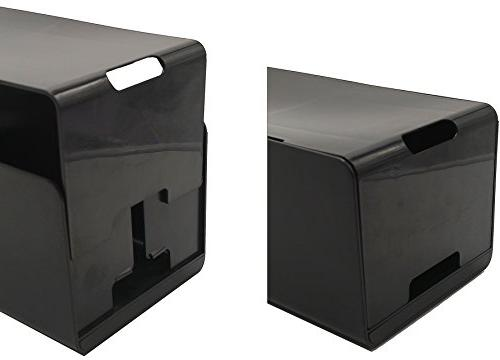 Cord Organizer; Protects + Chargers; PC Cables, Power Strips; Cleans up Office, Desk, Includes Cord
