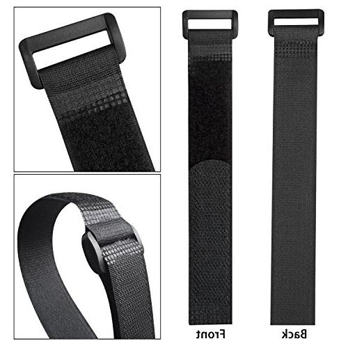 CandyHome Fastening Cable Straps and Cable Ties Hook and Loop Straps for Cord