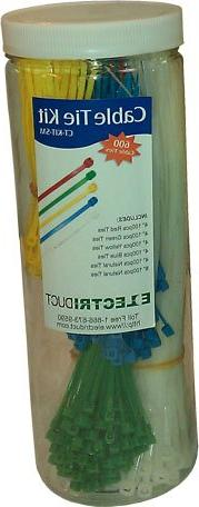 Small Cable Tie Kit - 600 pieces