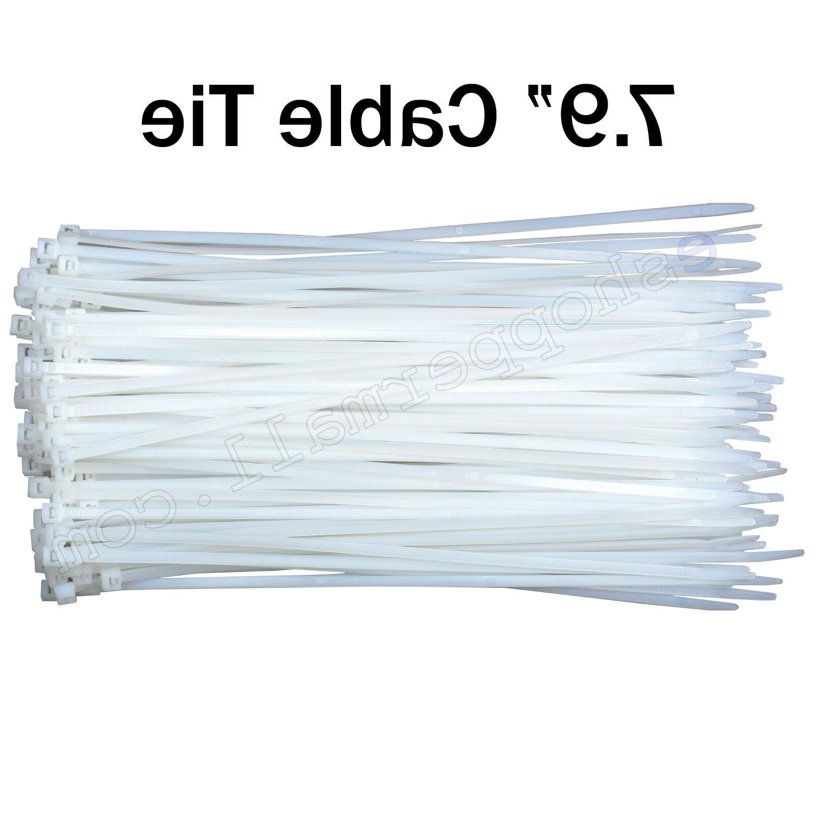 cable ties 7 9 inch white plastic