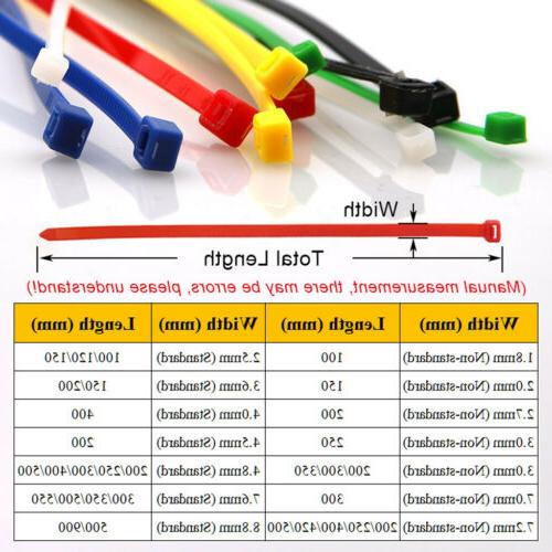 Cable Tie Nylon 1.8-3mm 100-250mm Long