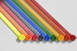 fluorescent yellow cable ties w