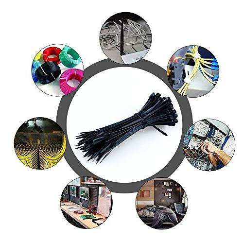 AMANEER Cable Black Flexible Ties Cable Management For Accessories