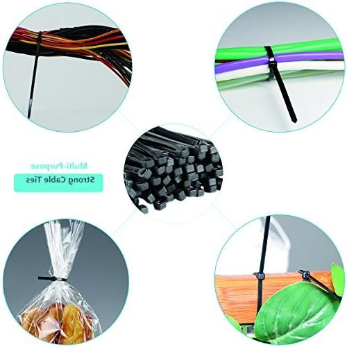 AMANEER Cable Black Flexible Nylon Ties Ajustable Cable Cord Management For