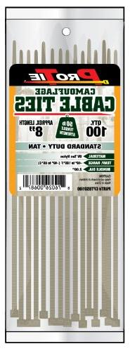 Pro Tie CFT8SD100 8-Inch Tan Nylon Standard Duty Cable Ties,