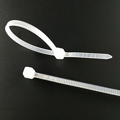 6 Inch Small 18 LBS Self Ties White Nylon Thin,Strong and