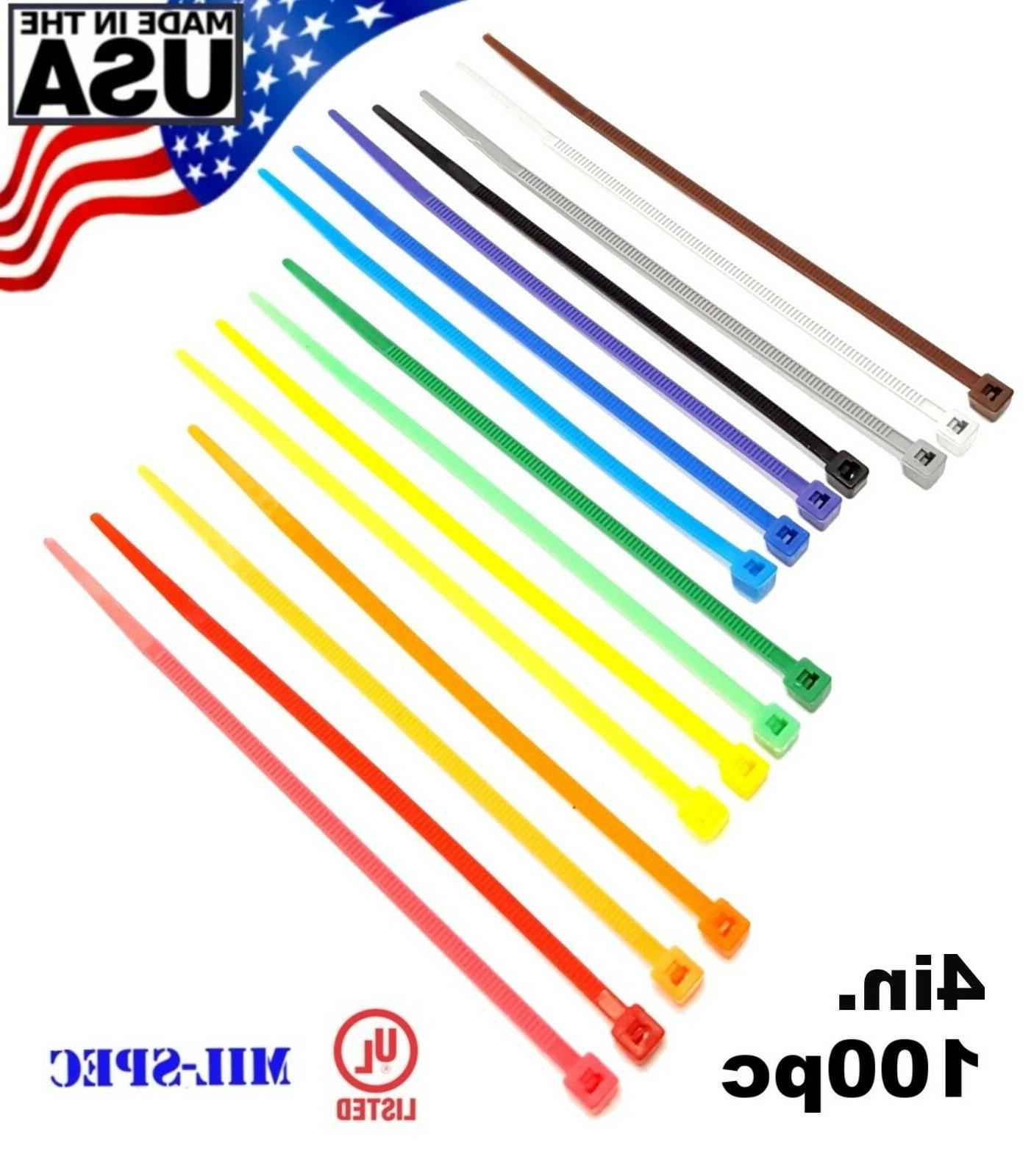 color zip cable ties 4 18lbs 100pc