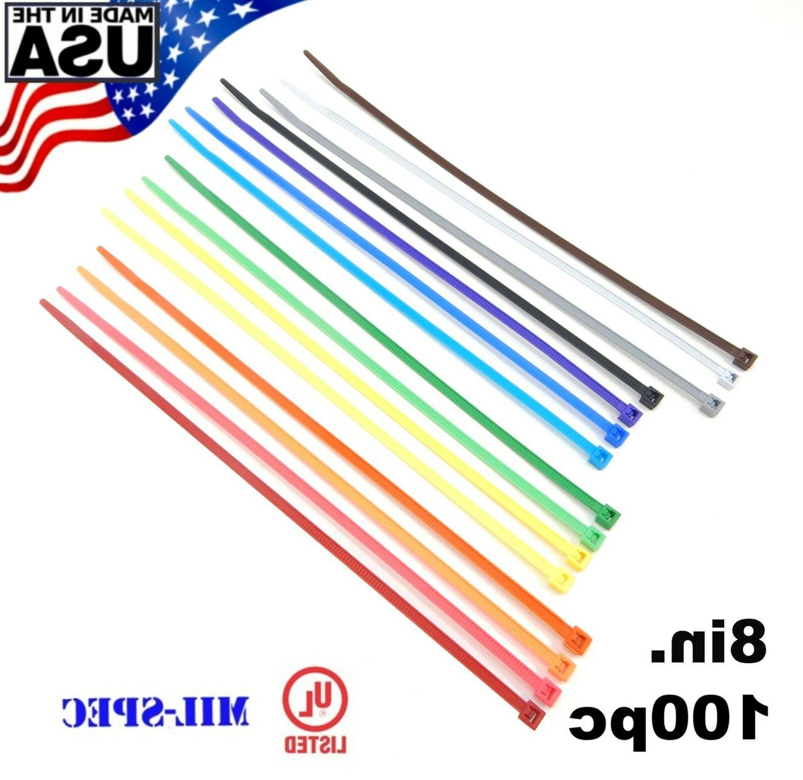 color zip cable ties 8 40lbs 100pc