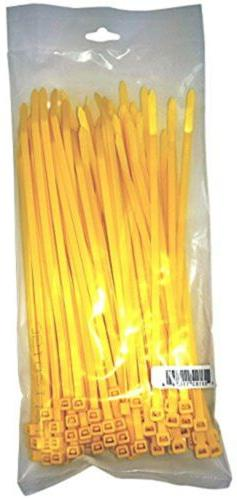 "Cambridge Cable Ties 8"" 50 Lbs 100 Pcs, Standard Duty, Yello"