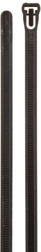 "Aviditi CTR10B Nylon Releasable Cable Tie, 10"" Length x 19/6"