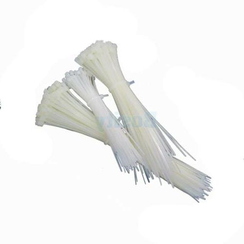 Different Sizes White Zip Tie Cable Plastic for Office