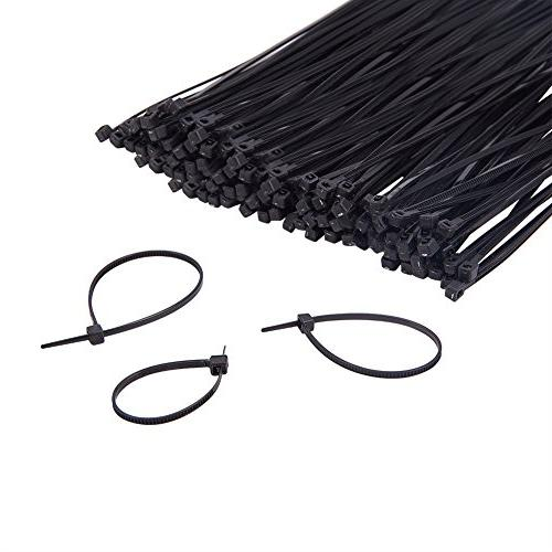 PandaHall Elite Combo About Pcs Self-Locking Nylon Cable Ties Zip Size Length in Black