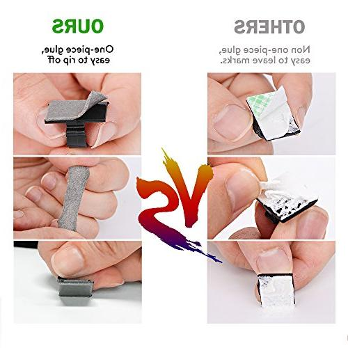 GOOACC Management Adhesive Cable Clips Organizer Wire Home, Desk