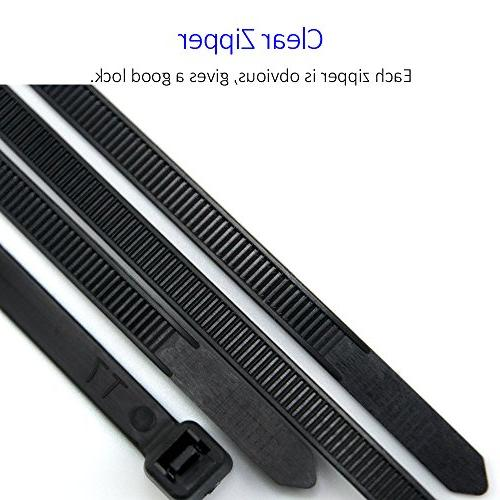10 Heavy Duty Nylon Ties, Pounds Pieces, with 0.24 in Black By Flurhrt, and