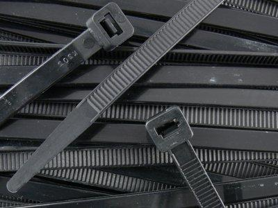 8 Inch Heavy Black Cable Ties 100pk