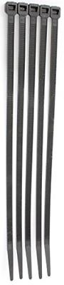 "12"" Inch Black Zip Cable Ties 100 Pack, 40lb Strength Nylon"