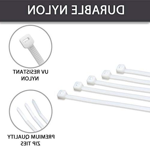 """12"""" Inch White Nylon Cable By Bolt"""