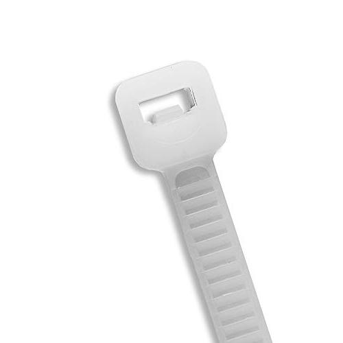 """12"""" Inch Zip White , Strength, Nylon Cable By Bolt"""