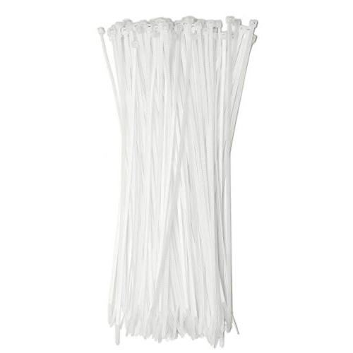 "18"" Inch Zip Ties White , 175lb Strength, Nylon Cable Wire T"