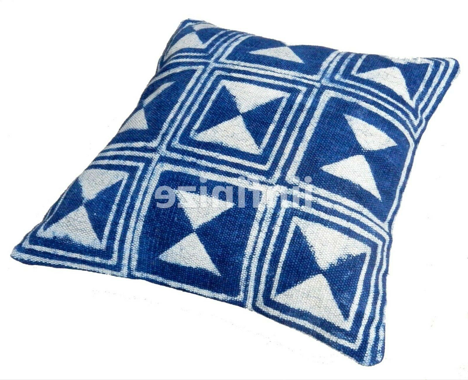 Indian Cotton Cushion Cover Zip Decorative Throw