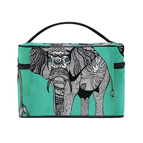 Makeup Patterns Elephants Toiletry Bag Case Cosmetic