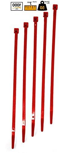"""BuyCableTies 7"""" Standard Indoor Cable Ties - 50 lb Rated - M"""