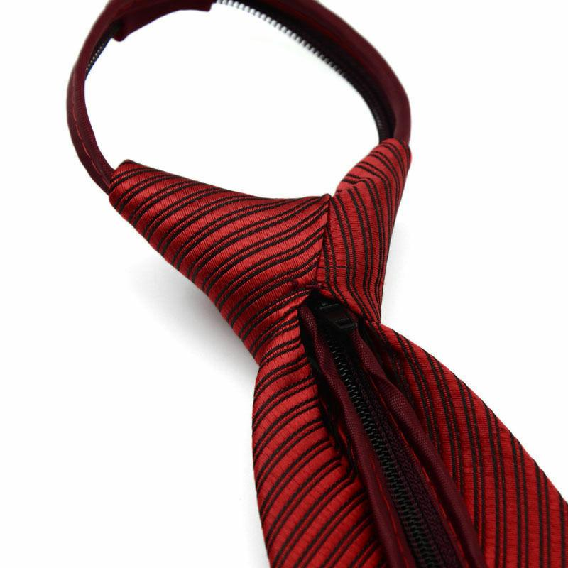 Lazy Men's Solid Casual Business Slim Tie