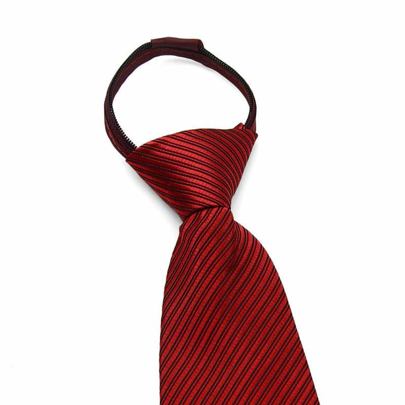 Lazy Solid Casual Business Wedding Slim Zip Up Tie USA