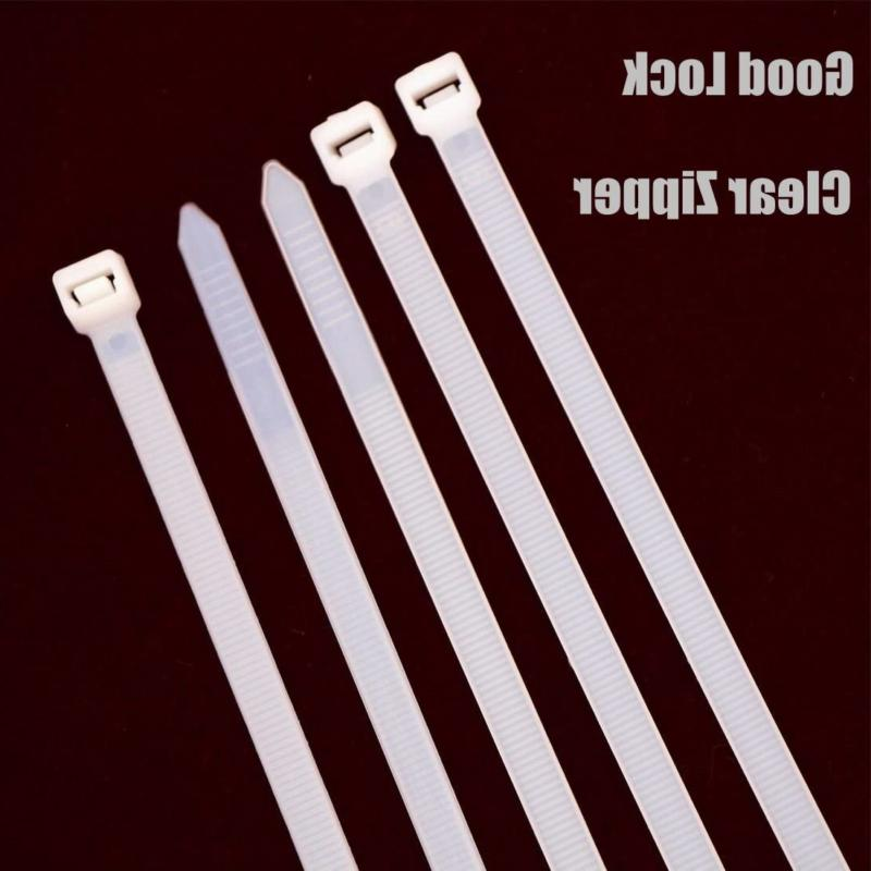Long Heavy Duty Inch Nylon Zip Cable Ties Clear-Large Tensile