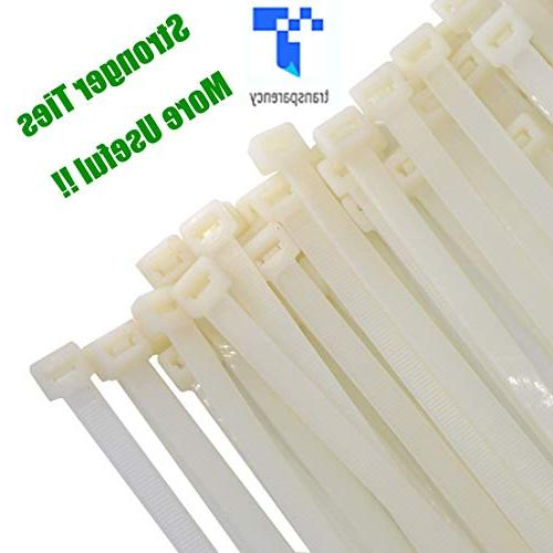 Long Inch Nylon Zip Ties 200 Tensile Durable Strong 50 Outdoor Use