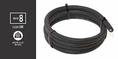 100 pcs Multi-Purpose Strong Cable Ties Black, Self 8inches