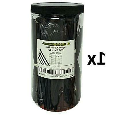 """Electriduct Kit - Zip Ties - Assorted Lengths 4"""","""