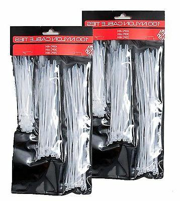 nylon cable ties 3 assorted