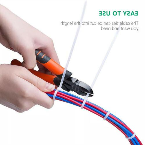 Nylon Zip Inch with Locking Cable Ties 1.9*80mm in White