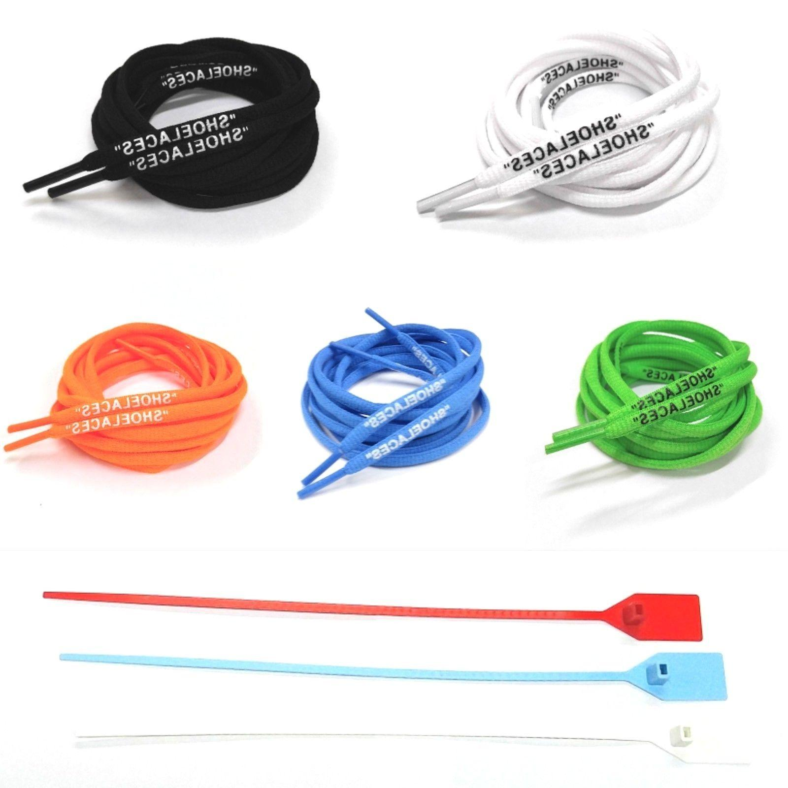 oval shoelaces zip tie replacement off white
