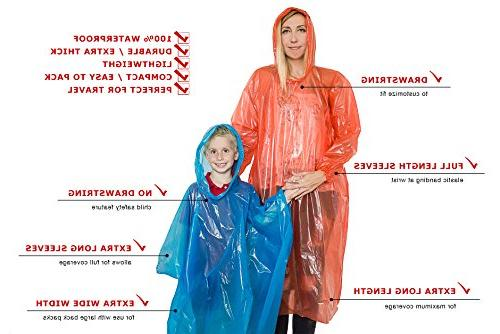 Lingito Rain Pack: Thick Emergency for Men, Women and Children