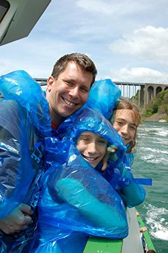 Lingito Pack: Extra Thick -Disposable Emergency Rain Ponchos Men, Women Children