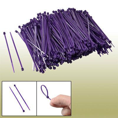 100mm Length Purple Packaging Self-locking Nylon Cable Ties