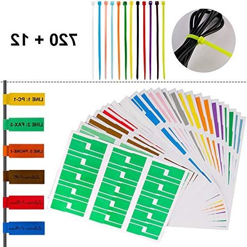 self adhesive cable label tags
