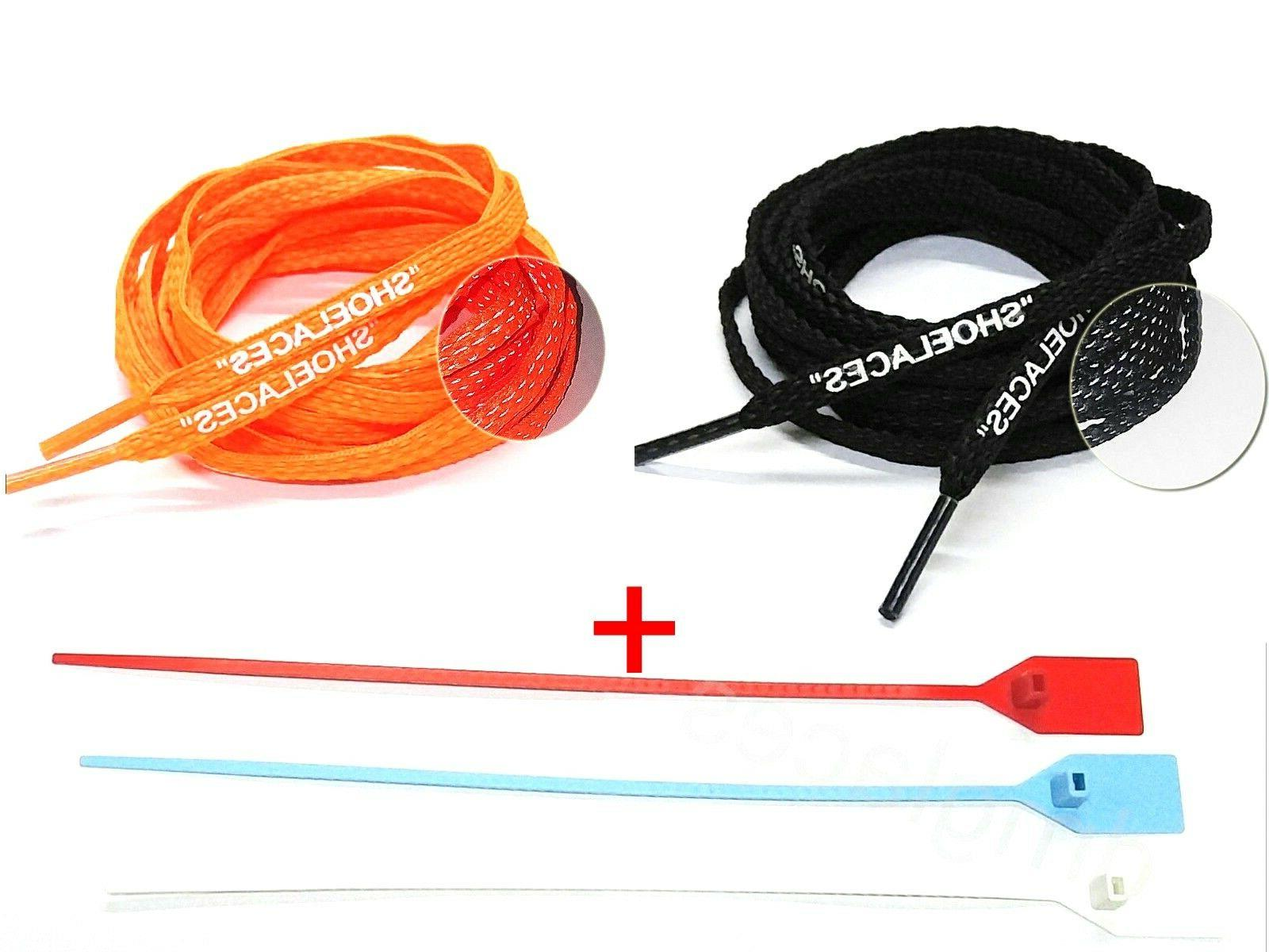 shoelaces 3m flat laces for off white