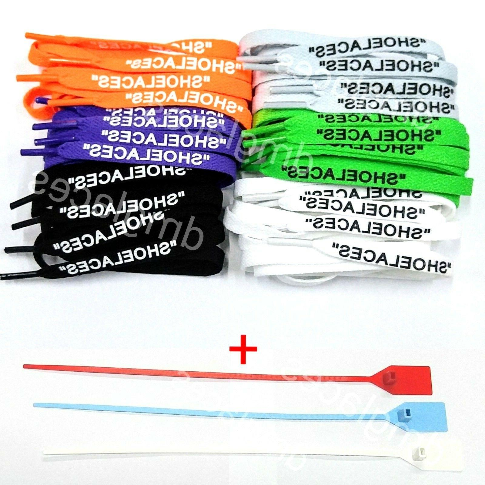shoelaces flat laces for off white