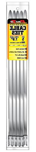 Pro Tie SS8N5 7.9-Inch Narrow Stainless Steel Cable Ties, 5-