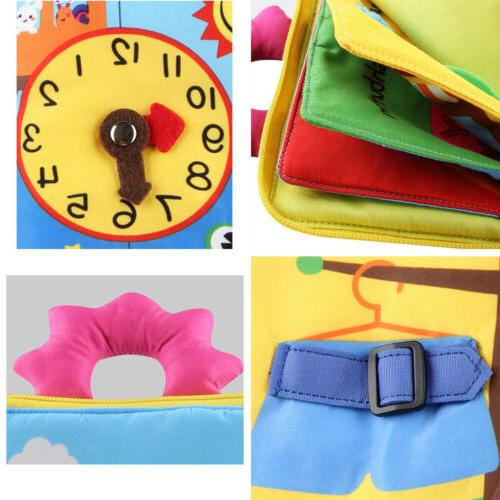Toddler Early Learning Toy - Learn to Button Book