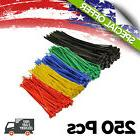 Topzone® Assorted Color Nylon Cable Zip Ties Self Locking